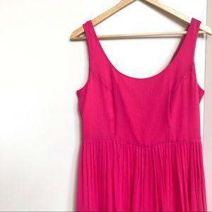 J. Crew Silk Pink Pleated Dress